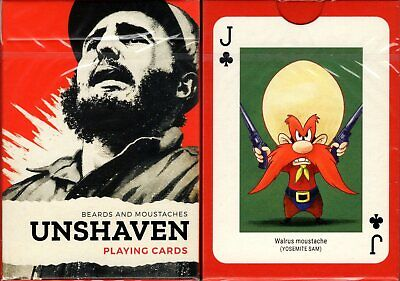 Unshaven Playing Cards Poker Size Deck Piatnik Custom Limited Edition New