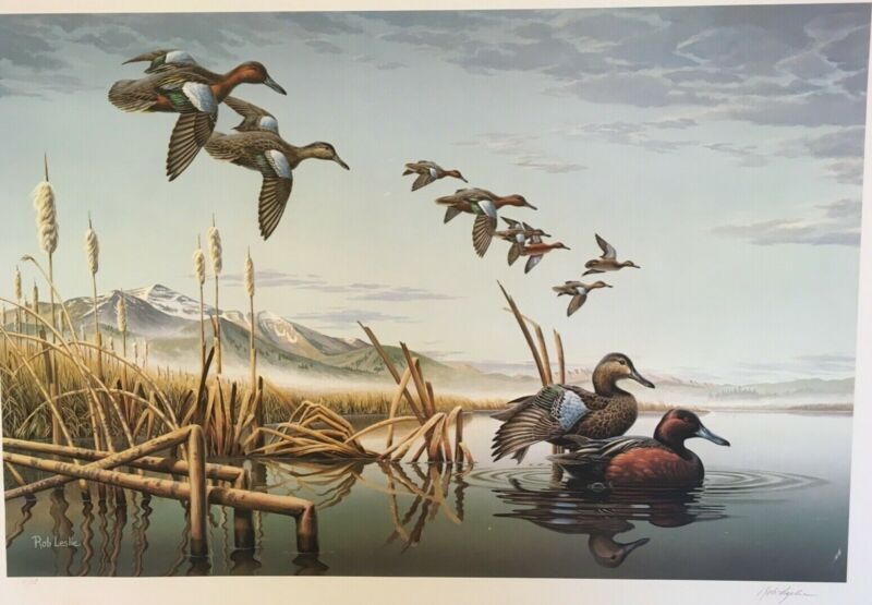 ID-1, Idaho First of State Companion Piece to Duck Stamp Print, Rob Leslie, 1987