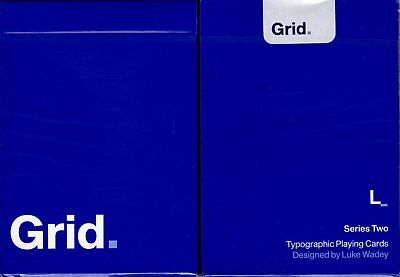 Grid v2 Typographic Playing Cards Poker Size Deck USPCC Custom Limited Edition