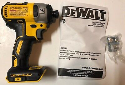 NEW DEWALT DCF887 20V 20 Volt Max XR Li-Ion 3 Speed 1/4