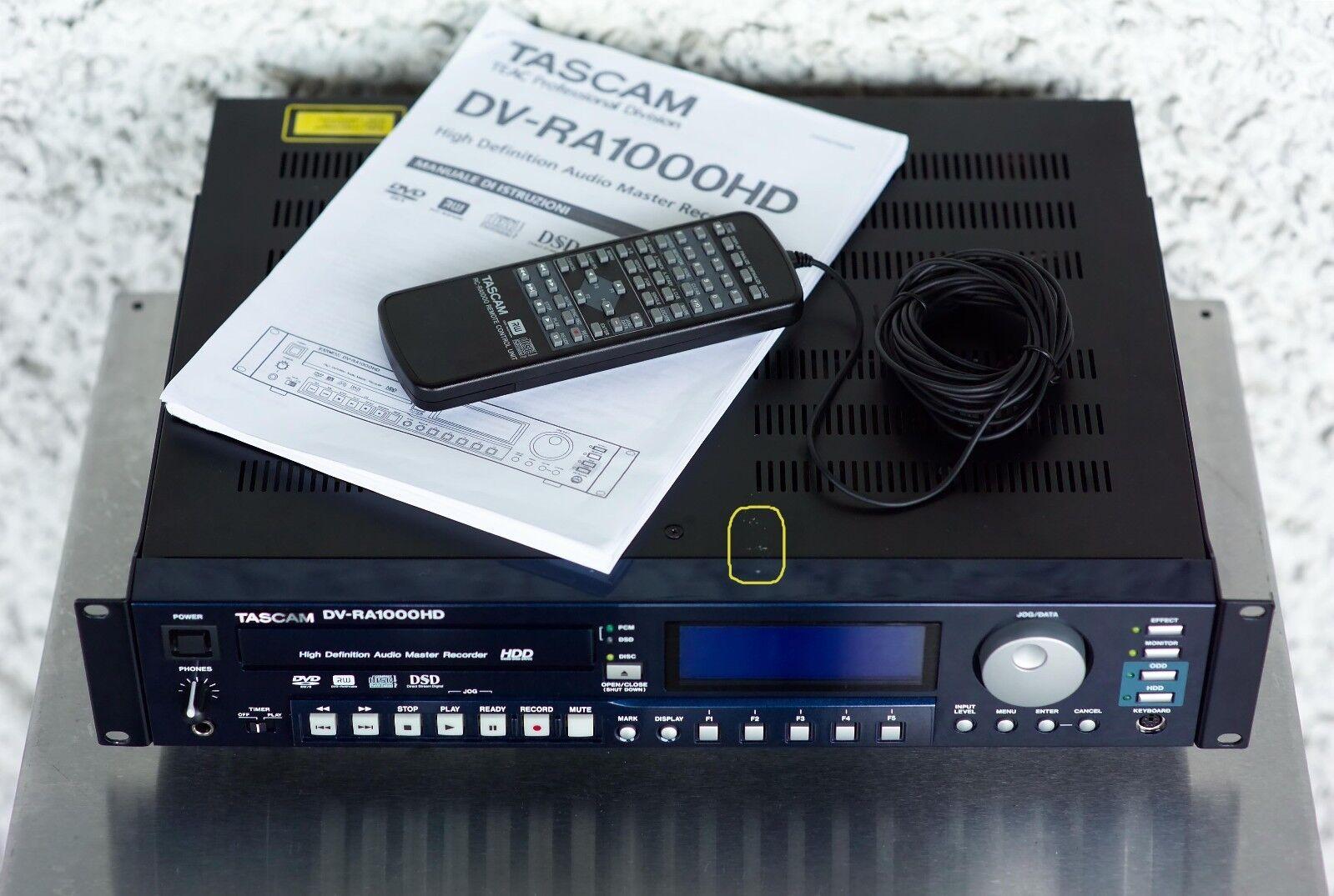 CD recorder registratore professionale TASCAM DV-RA1000HD DVD hi Resolution DSD