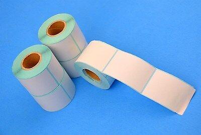 15 Rolls 3750 Pc 1.57 X 2.36 Self Adhesive Blank Sticker Thermal Printing Label