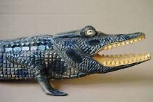 PNG New Guinea Artifact Sepik River Carved Crocodile Warana Maroochydore Area Preview