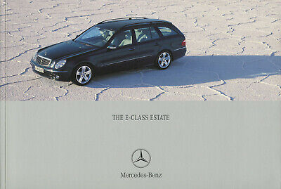 Brochure: Mercedes-Benz E-Class Estate Brochure - 2004 (Including E55 AMG) for sale  Shipping to United States
