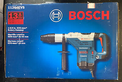 New Bosch 11264evs 13 Amp 1 58 Sds Max Rotary Hammer With Hard Case Acc