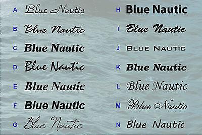 Bootkennzeichen Jetski und Bootsbeschriftung auch Kennzeichen für Boote