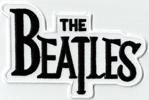 THE BEATLES - WHITE LOGO - IRON or SEW ON PATCH