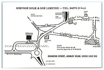 Business Advertising card Simpson Solk & Son Ltd Brandon St