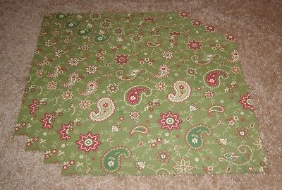 Flair Christmas Toile Vintage Look Scrapbook Paper(4)....Holiday Green Paisley Flair Scrapbook Paper