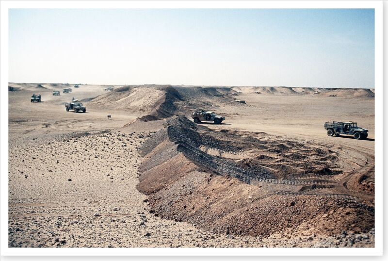 M-998 Convoy Near Iraq Border Operation Desert Storm 8x12 Photo