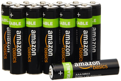 AmazonBasics AAA Rechargeable Batteries 12-Pack - Packaging