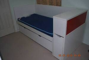 Day Bed with mattress, pullout bedframe and book shelves Willetton Canning Area Preview