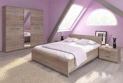 Bedroom Oak Bed Frame - Bedroom furniture set bed wardrobe bedside dressing table sideboard sonoma oak