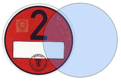 5 x Haftfolie für Umweltplakette / Feinstaubplakette 82 mm, passgenau NEU