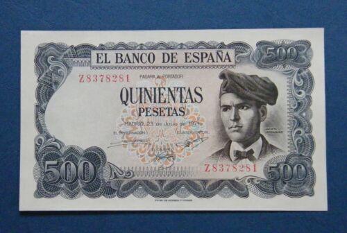 SPAIN  BANKNOTE 500 PESETAS 1971  ¨VERDAGUER¨  GEM UNC