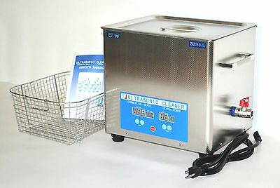 Full Set Dsa280se-sk1 10l 880w Heated Industrial Ultrasonic Parts Cleaner Washer