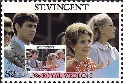 St VINCENT GRENADINES 18 JULY 1986 ROYAL WEDDING $2 MAXI CARD FDI SHS
