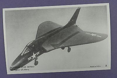 Douglas XF4D Skyray - Jet Fifghter US Navy Postcard - Unused Vintage Stock Item