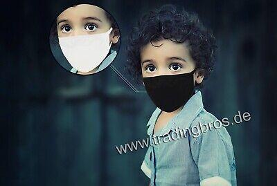 2x Kinder Stoffmaske Mund-Nasen-Maske Baumwolle waschbar Jungen Mädchen Masken
