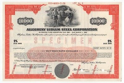SPECIMEN - Allegheny Ludlum Steel Corporation Bond