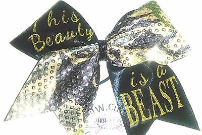 This Beauty is a  Beast Cheer Hair Bow