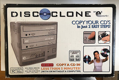 E3 Works Disc Clone CD Burner With Power, USB and Discs BRAND NEW OPEN BOX
