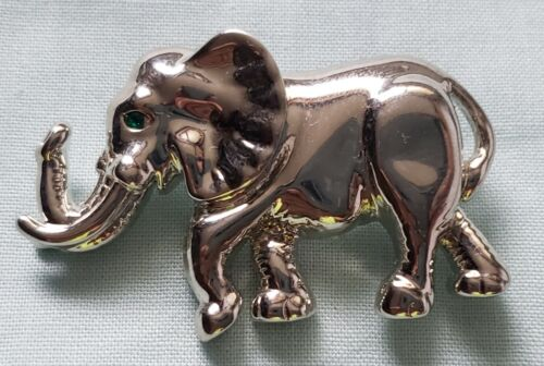 Vintage Elephant pin brooch