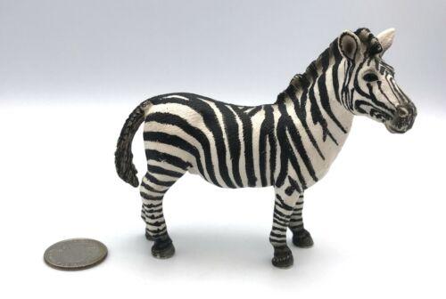 Schleich ZEBRA MALE Stallion Adult Retired 2008 Animal Figure 14391