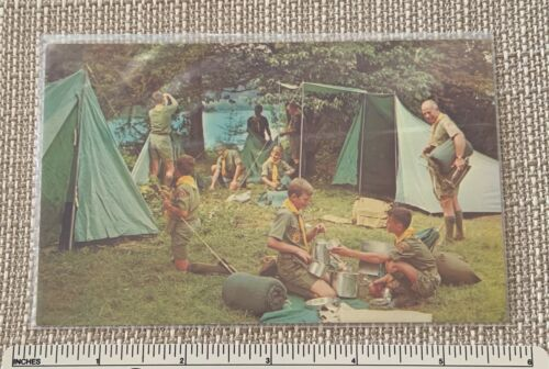 VTG BOY SCOUTS OF AMERICA Souvenir Camp POST CARD BSA National Supply Division