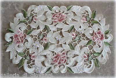 """Doily Royal Rose Lace Place mat  Flower Floral  17.5"""" x 11"""""""