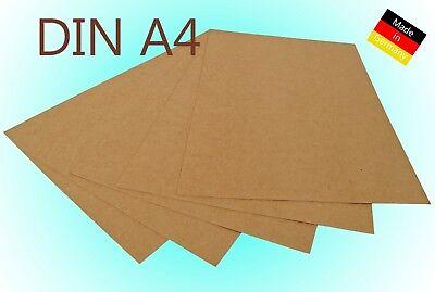 Kraftpapier Kraftkarton DINA4 100 / 225 / 300g/m² Bastelkarton braun Hochzeit