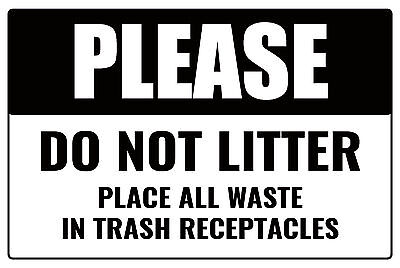 Please DO NOT litter business place trash in basket 12