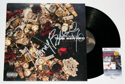 MONEYBAGG YO SIGNED TIME SERVED LP VINYL RECORD RAPPER AUTOGRAPH RARE +JSA COA