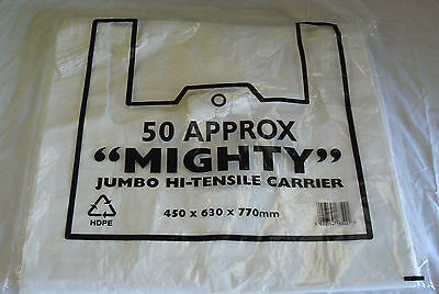 500 x Mighty Vest Carrier Bags 16