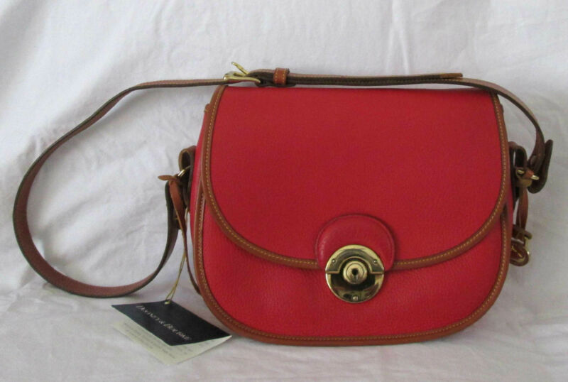 Dooney & Bourke Vintage Classic AWL Dazzling Red Leather bag R210 NWT