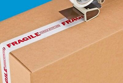 Preprinted Tape - Fragile - Handle With Care- 2 X 55 Yds - 6 Rolls