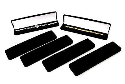 Black Flocked Watchbraceletpen Gift Boxes Package Of 6