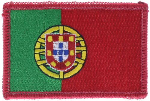 Portugal Flag Country Of 3 Inch Embroidered Patch PW F4D5Y
