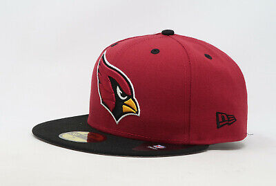 New Era 59Fifty Cap Mens NFL Arizona Cardinals Red Black 2 Tone Fitted 5950 Hat ()