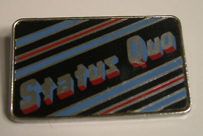 STATUS QUO WHATEVER YOU WANT CONCERT TOUR BADGE BUTTON 1980