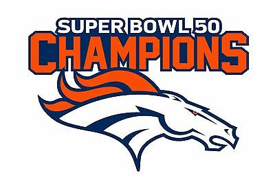 Denver Broncos SUPER BOWL 50 CHAMPIONS Decal - Sticker Car Truck Outdoor 5.5