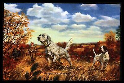 "1940's ""National Champions"" Setter Bird Dogs Hunting Calendar Art Print"