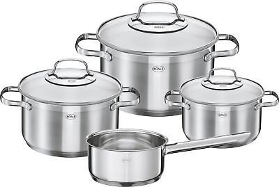 Koch-Topf-Set Suppen-Topf Pfannen-Set Gourmet Induktion 7-tlg. Rösle Gastro NEU ()