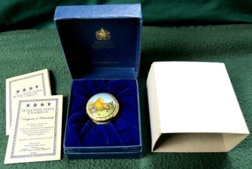 Winnie the Pooh Enamel Box Disney Halcyon Days Limited Edition /1500