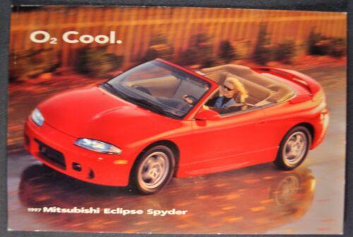 1997 Mitsubishi Eclipse Spyder Postcard Brochure Excellent Original 97