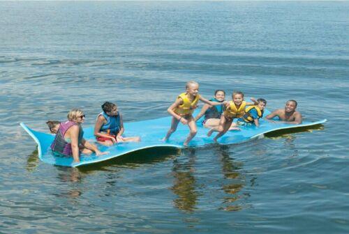 Huge 7 Person Floating Oasis Foam Raft Lake Sea Water Pad Mat - 15 x 6
