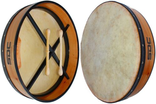 "BODHRAN with CASE 18"" Natural Wood Finish"