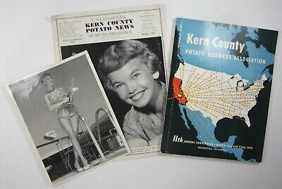 Vtg Bakersfield Kern County Potato Farming History Queen Photo Newsletter 1955