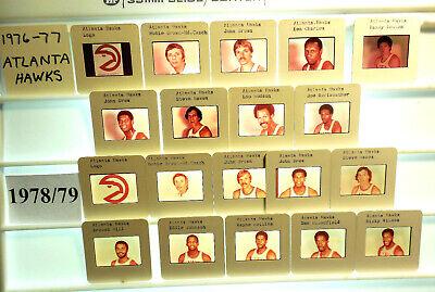 1975-84 NBA TV card / slide tm sets Atlanta Hawks U PICK Hudson Drew Tree Hill ()