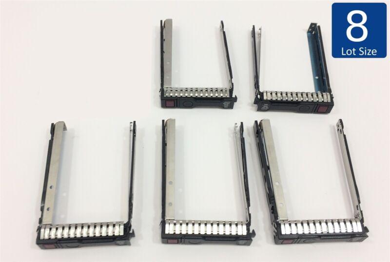 """Lot of 8 2.5"""" Hard Drive Tray Caddy HP Proliant w/IC Chip 651699-001 Gen 8 Gen 9"""